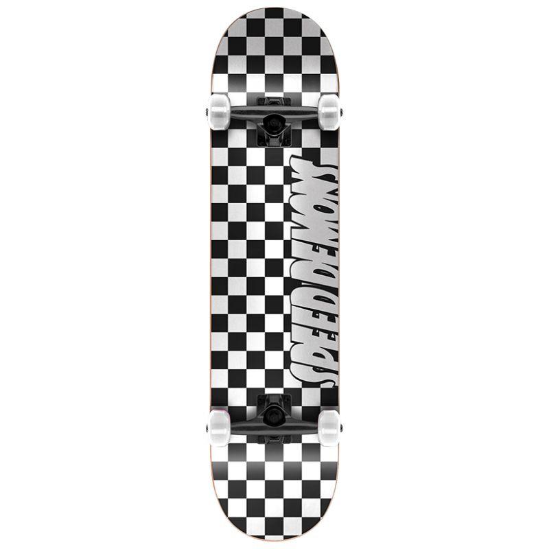 """SPEED DEMONS SKATEBOARDS COMPLETE SKATEBOARD CHECKERS BLACK //WHITE 8.00/"""" NEW"""