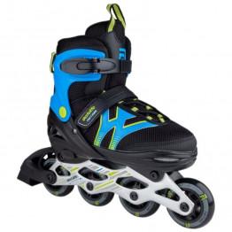 Riedučiai Skatelife Motion Adjustable Large Black/Blue 34-37 EU