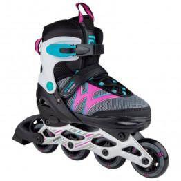 Riedučiai Skatelife Motion Adjustable Small Black/Pink 26-29 EU