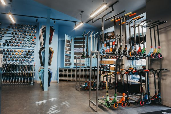 Photo shows the extreme section in the Rideoo shop, photo number 1.